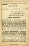 German Apostleship of Prayer membership card