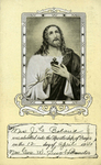 Apostleship of Prayer membership card by Apostleship of Prayer