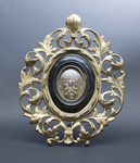 Reliquary containing ashes of Saint Margaret Mary Alacoque, remnant of clothing of Saint Francis de Sales, and remnant of clothing of Saint Frances de Chantal