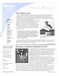 Voices Raised, Issue 23 by University of Dayton. Women's Center