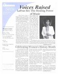 Voices Raised, Issue 35 by University of Dayton. Women's Center
