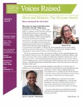 Voices Raised, Issue 40 by University of Dayton. Women's Center