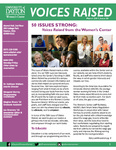 Voices Raised, Issue 50 by University of Dayton. Women's Center