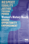 2007 Women's History Month 1st Place Poster by University of Dayton