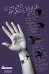 2012 Women's History Month 1st Place Poster by University of Dayton