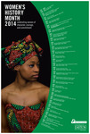 2014 Women's History Month 1st Place Poster by University of Dayton